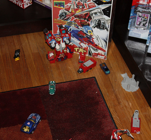Fire Convoy took a nosedive off his shelf!