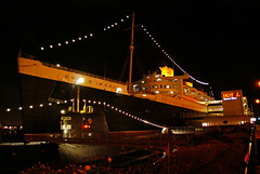 Come take - The Queen Mary Ghost Tour! (Geekstalt) Tags: ocean california travel halloween museum hotel scary ghost queenmary longbeach artdeco ghosts liner oceanliner spectres thegreyghost