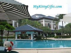 Hello Kitty at Swimming Pool of Holiday Inn Glenmarie Hotel, Malaysia
