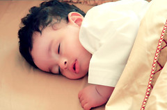 I ..      (Dior_Man) Tags: sleeping baby man cute kid bed child sleep nephew mohammed blanket asleep dior kandora 7moody mhmd diorman diorman hmody mo0dy