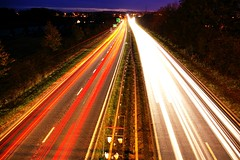 Night Traffic (WullieS (on & off and on & off Ipernity)) Tags: night lights scotland long exposure traffic kilmarnock top20flickrskylines flickrlovers