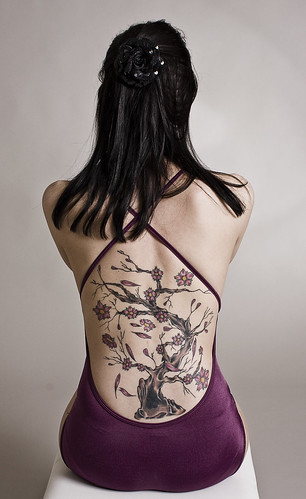 However there is this not so popular tattoo of cherry tree with falling