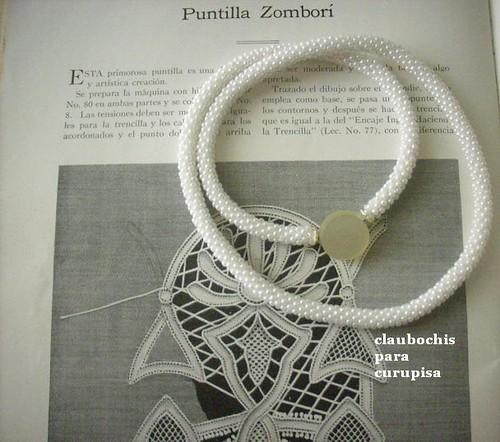 Galería Curupisa: Perlas blancas: Collar a crochet