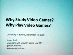Jesper Juul: Why Study Video Games? (inju) Tags: buffalo singapore mit visualarts culture theory rules videogames gaming study motivation ub academic cfa jesperjuul ludology