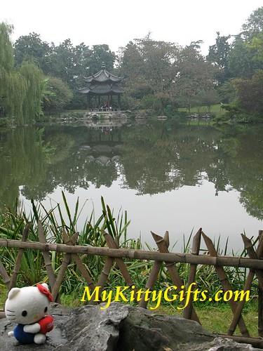 Hello Kitty at Pool of Peony Garden HangZhou