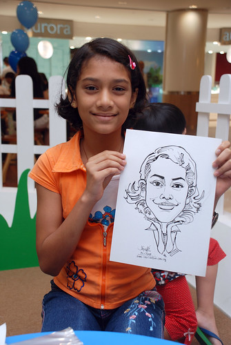 caricature live sketching for West Coast Plaza day 1 - 9