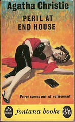 Peril at End House - Fontana book cover (Covers etc) Tags: girl rose mystery john design artwork shoes legs paperback crime bookcover thriller