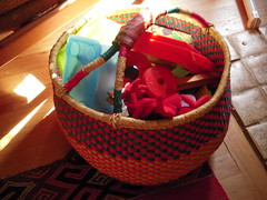 Basket full of toys...
