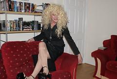Talia Blonde 9 (Talia Monique) Tags: cross gothic goth culture dressing tranny heels gothicculture