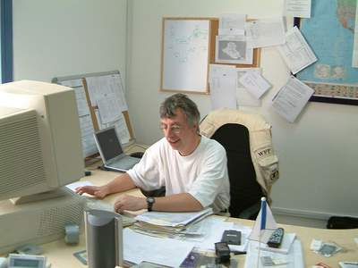 Peter at work