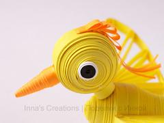 Bird. 3D quilling (detail)