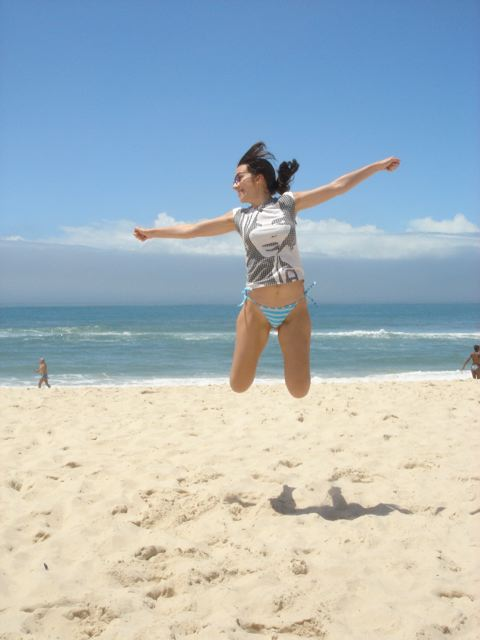 saltinho na praia