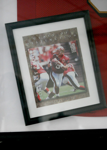 a917e993c08 AUTOGRAPHED STEVE YOUNG JERSEY IN BLACK FRAME
