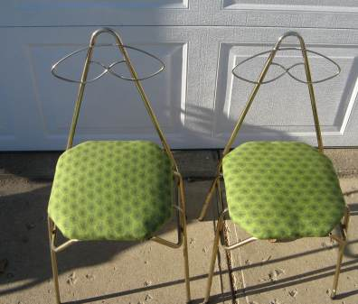 Pint Sized Green Chairs for Kid's Kitchen Play Area