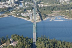Lions Gate Bridge from the air again (Zorro1968) Tags: canada art vancouver aviation sony stock aerial lionsgatebridge artforsale alpha700