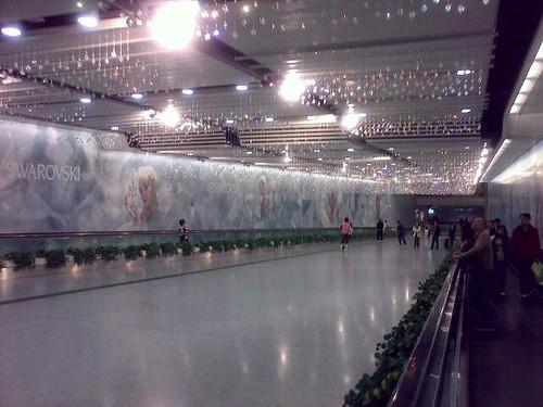 Swarovski crystals decorating Hong Kong MTR station