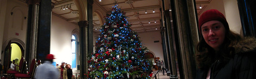 Christmas Tree Panorama: Smithsonian Castle