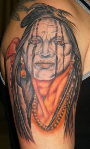 Indian tattoo, color