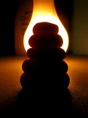 clay blob (Maʝicdölphin) Tags: orange black macro lightbulb canon powershot clay playdoh backlighting a590