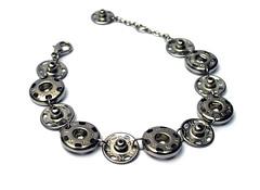 Snap Bracelet (weggart) Tags: bracelet kohinoor alternativematerialjewelry sewonsnapfastener haberdasheryedition offbeatjewelry