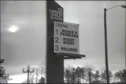 Eastland Mall Cinema Theatre Marquee (Charlotte NC) 1981 by patricia_poland