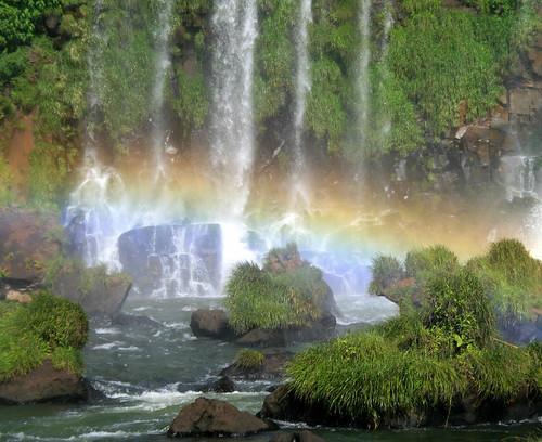 nature waterfalls Foz do Iguaçu Brazil Paraná rainbow