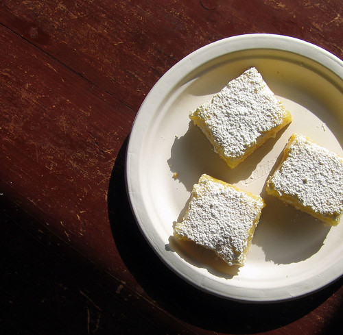 lemon bars on table