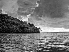 Approaching Storm, Costa Rica (William Elder) Tags: ocean blackandwhite bw storm art modern clouds landscape islands costarica noiretblanc fineart best forsaken desolate darkclouds greyscale fineartphotography thunderstorms avantgarde whiteandblack top20blackandwhite williamelder austinphotoartist therebeastormabrewin islandsinthesea