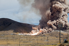 NASA ARES-1 DM-1 Rocket Motor Test at ATK Space Systems