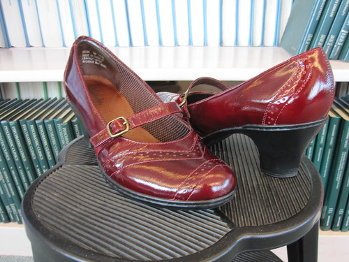 clarks red mens oxford shoes shiny