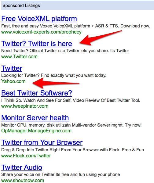 ads on twiter