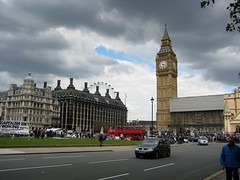 Palace of Westminster (NullProzent) Tags: sky london tower gray bigben clocktower palaceofwestminster