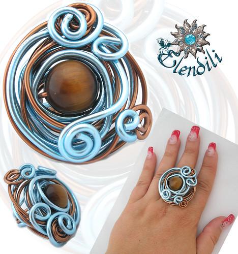 Anillo aluminio y ojo de tigre by **Elendili**