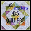 4x5 modern Quilt Bee Badge