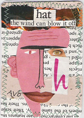 h is for hat (artypantzvo) Tags: pink hat collage wind blow artistvictoriaoneill
