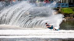 Slalom (Pat Charles) Tags: ski water river nikon skiing action australia melbourne victoria yarra waterskiing splash waterski moomba flickraward