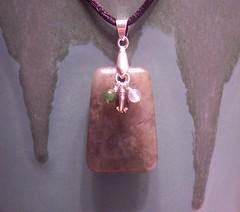 Labradorite Trapezoid Ladder Dangle Cord Pendant Necklace (MoonMystic) Tags: green cord necklace jewelry ladder dangle pendant earthtones labradorite smokeyquartz trapezoid greenonyx grayonyx