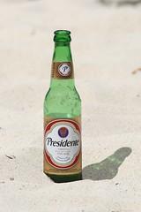 Sand and Beer (Kathy~) Tags: beach beer glass bottle sand cw thumbsup fc gamewinner mywinners herowinner