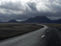 Road 1 between Egilsstadir and Myvatn