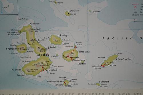 mapa galapagos
