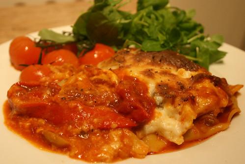 Chorizo lasagna 1