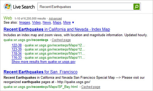 Live Quake Results