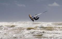 Reach for the sky (woolyboy) Tags: sea england sky beach coast wind surfer globalvillage sailboard camber globalcity invitedphotosonly gvadminshalloffame itsabeautifulgv woolyboy