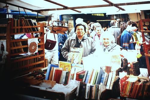 Buying books at Portobello Rd,London
