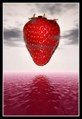 Trionfo di una fragola (Christian Demma) Tags: red sea reflection water fruit photoshop canon rouge eos mare redsea strawberries christian cielo e di una rosso frutta trionfo morangos tra fraise fragola riflesso fragole strawberrie blueribbonwinner 400d abigfave canoneos400d theunforgettablepictures demma christiandemma theworldinpink trionfodiunafragola maredifragola