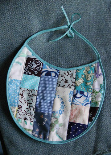 quilted patchwork bib