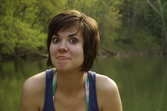 Boo! (zach.stone) Tags: portrait girl river evening funny kentucky canoe jessamine dixriver pfportrait1 pfpeople1