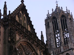 Scratching the Sky (indigo_jones) Tags: tower church netherlands utrecht dusk dom gothic nederland