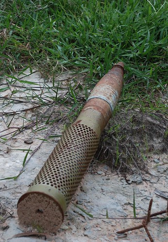 Artillery Shell in Field