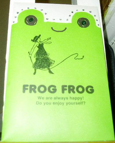 Frog Frog stationery, back of outgoing letter